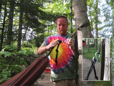 """All New"" Hammock Tree Straps and Carabiners"