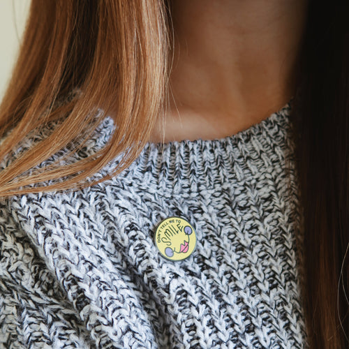 smile | enamel pin