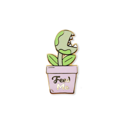 feed me | enamel pin