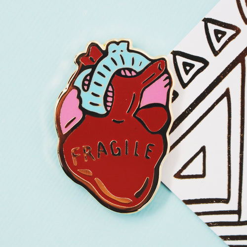 fragile heart | enamel pin