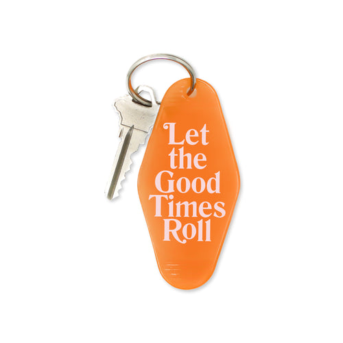 good times roll | key tag (transparent orange)