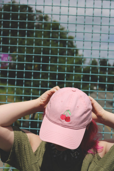 cherries | pink | dad hat