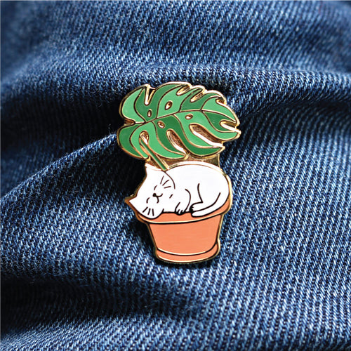leaf me be | enamel pin