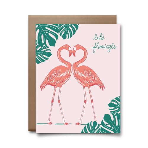 flamingle | greeting card
