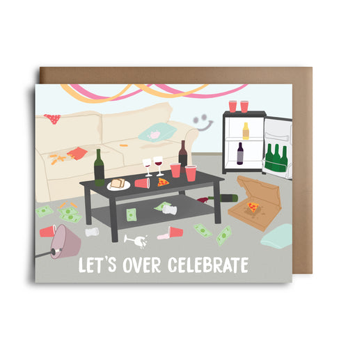 lets over celebrate | greeting card