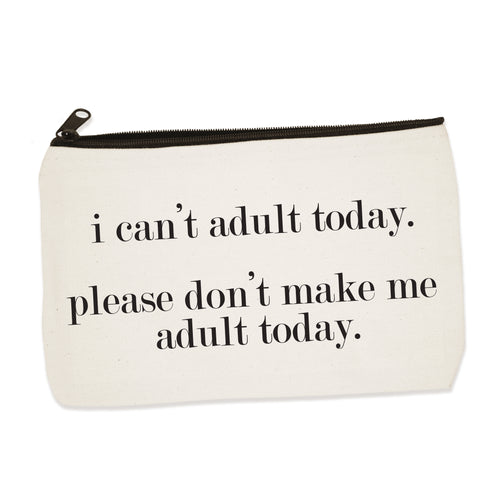 adult today | zip pouch