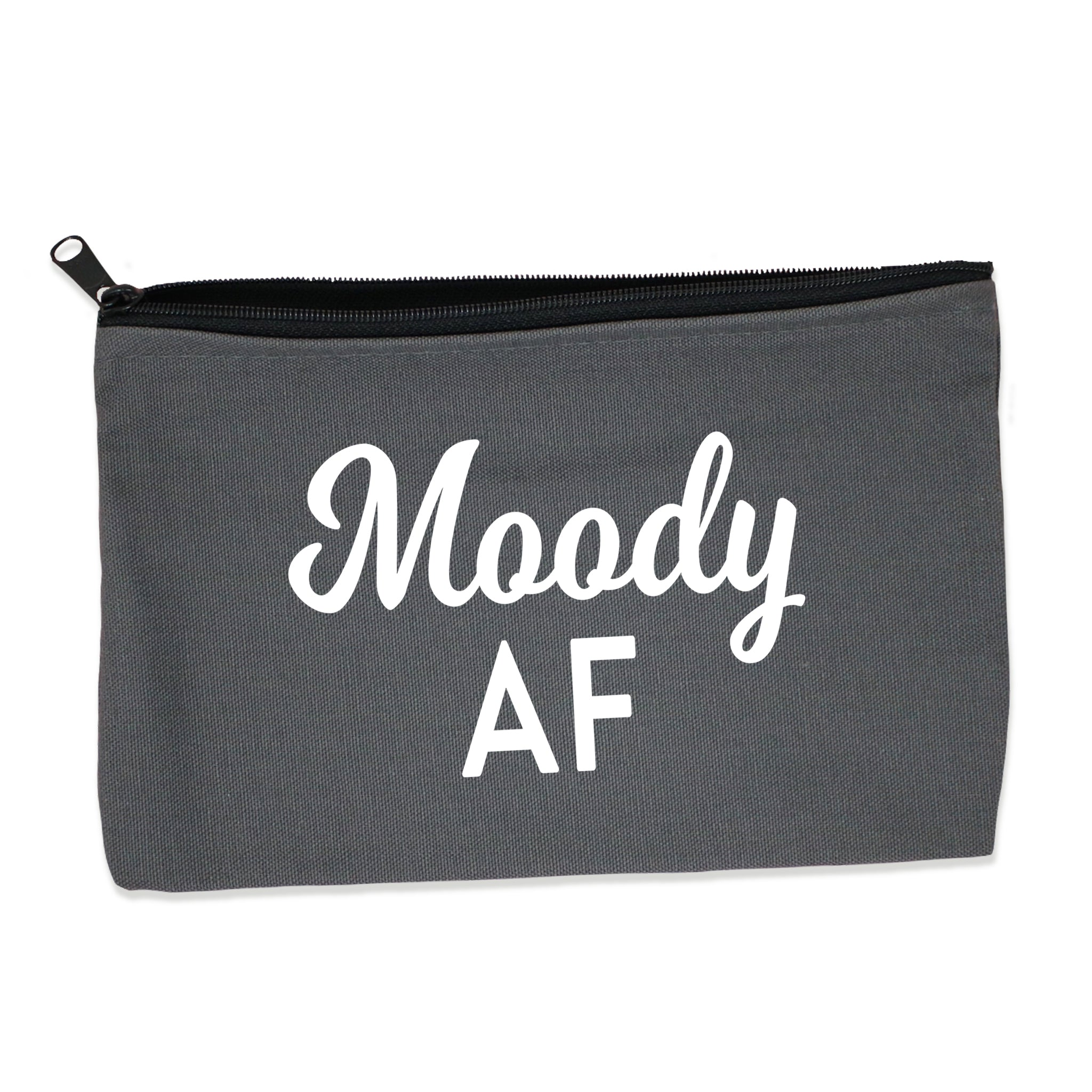 moody af | zip pouch gray