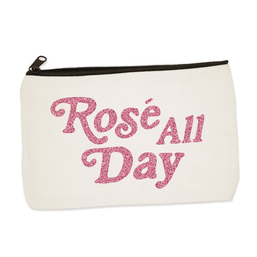 rose all day | zip pouch