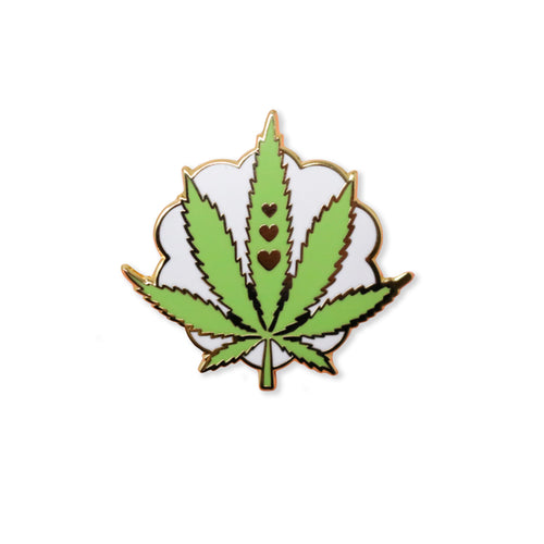pot leaf | enamel pin