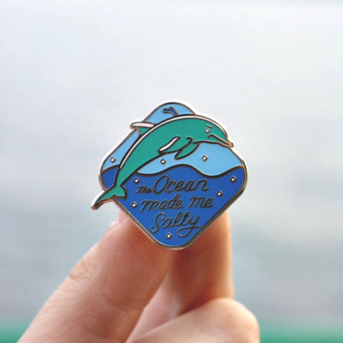 salty | enamel pin