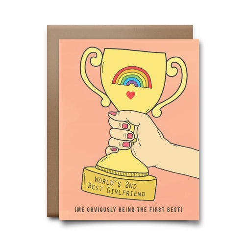 second best girlfriend  | greeting card