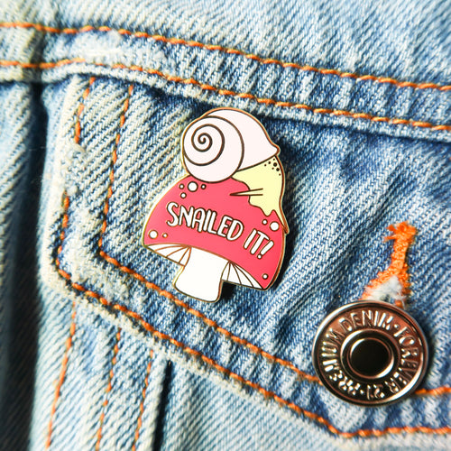 snailed it | enamel pin