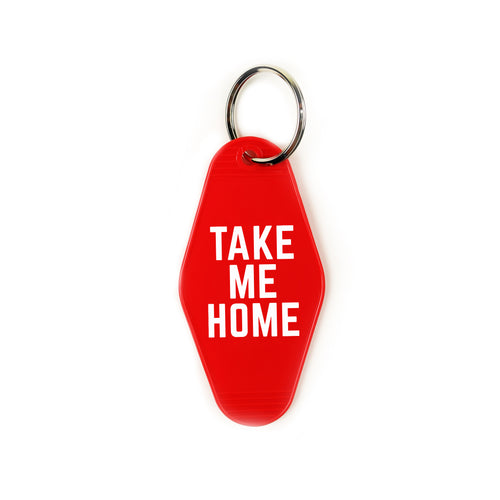 take me home | key tag (red)