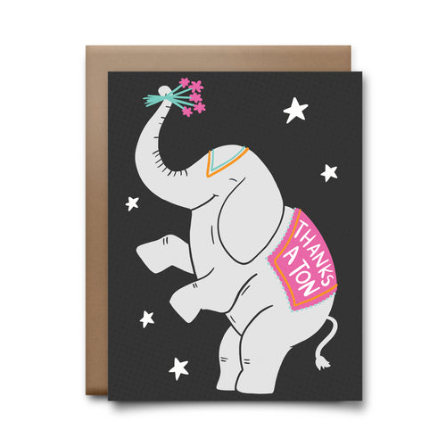 thanks a ton | greeting card
