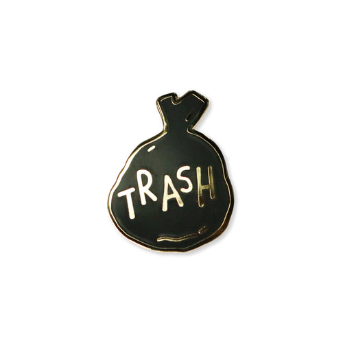 trash | enamel pin