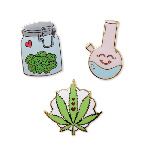 weed pack | enamel pin pack