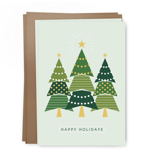 xmas trees pack | greeting card
