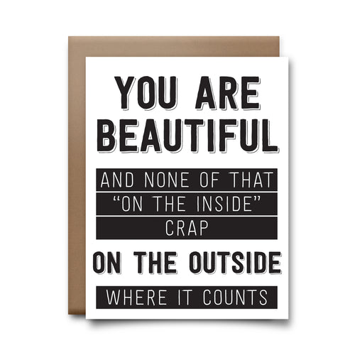on the outside | greeting card