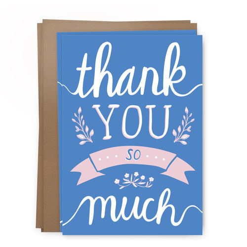 thanks blue pack | greeting card