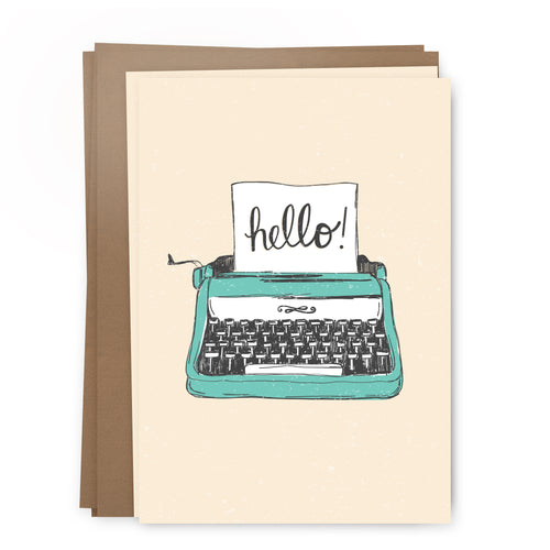 hello typewriter pack | greeting card