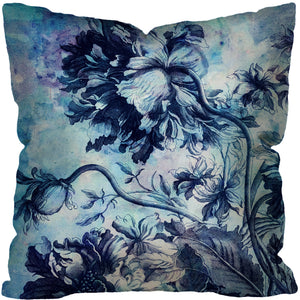 BOHEMIAN BLOSSOMS I OUTDOOR ~ BLUE