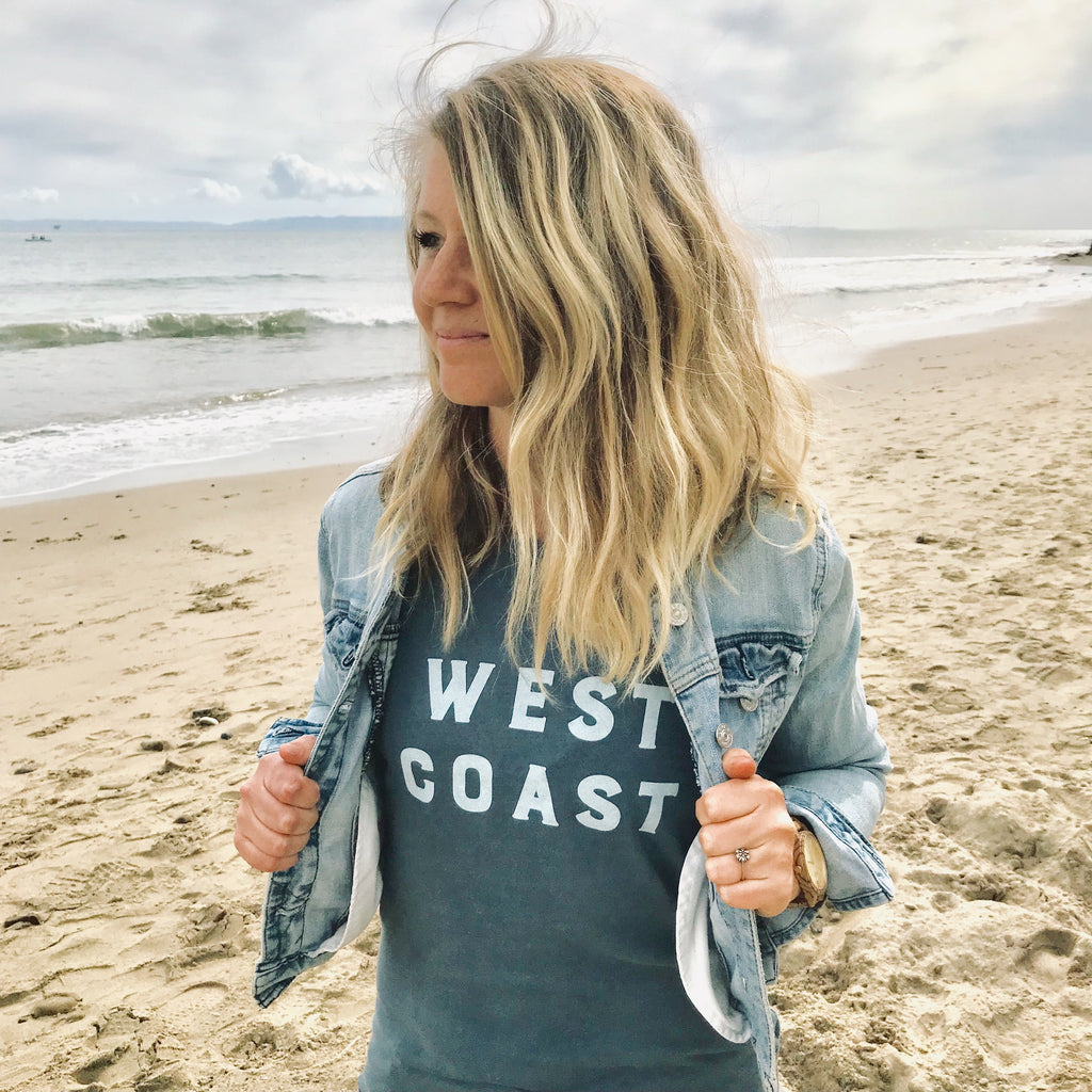 West Coast dyed distressed Women's T-shirt