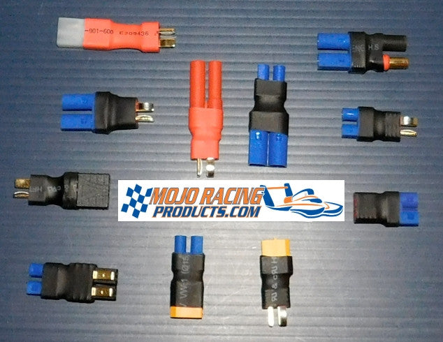 Hobbypark Deans T Plug to EC5 Connector Plugs RC Lipo Battery Charger Conversion Adapter w//Battery Straps