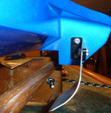 curved oval racing turn fin installed on UL-19 RC boat