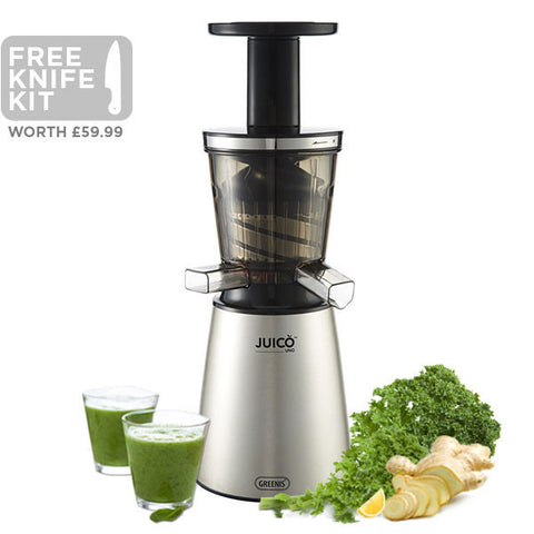 Juico Uno Brushed Steel Slow Juicer