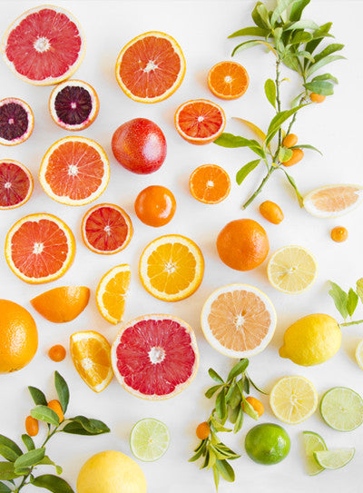 Citrus on White