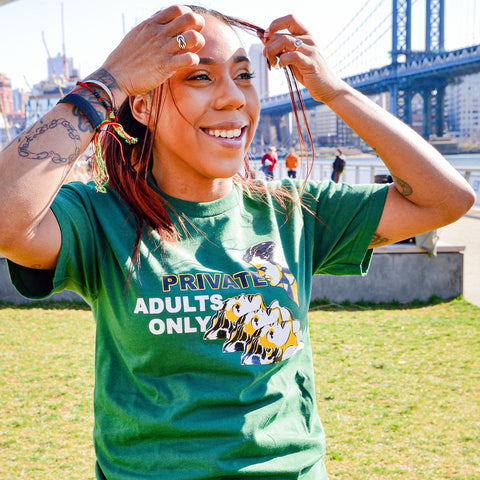 ADULTS ONLY TEE (GREEN)