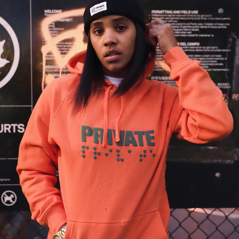 Braille Hoodie (Orange)