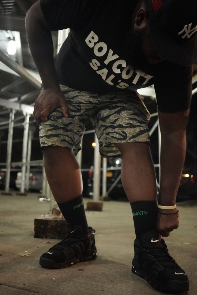PVT. Splatter Logo Tiger Shorts (Camo)