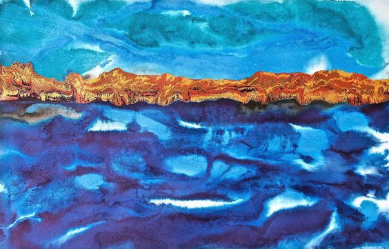 Seascape Paintings – my inspiration for my waterscape abstract artwork