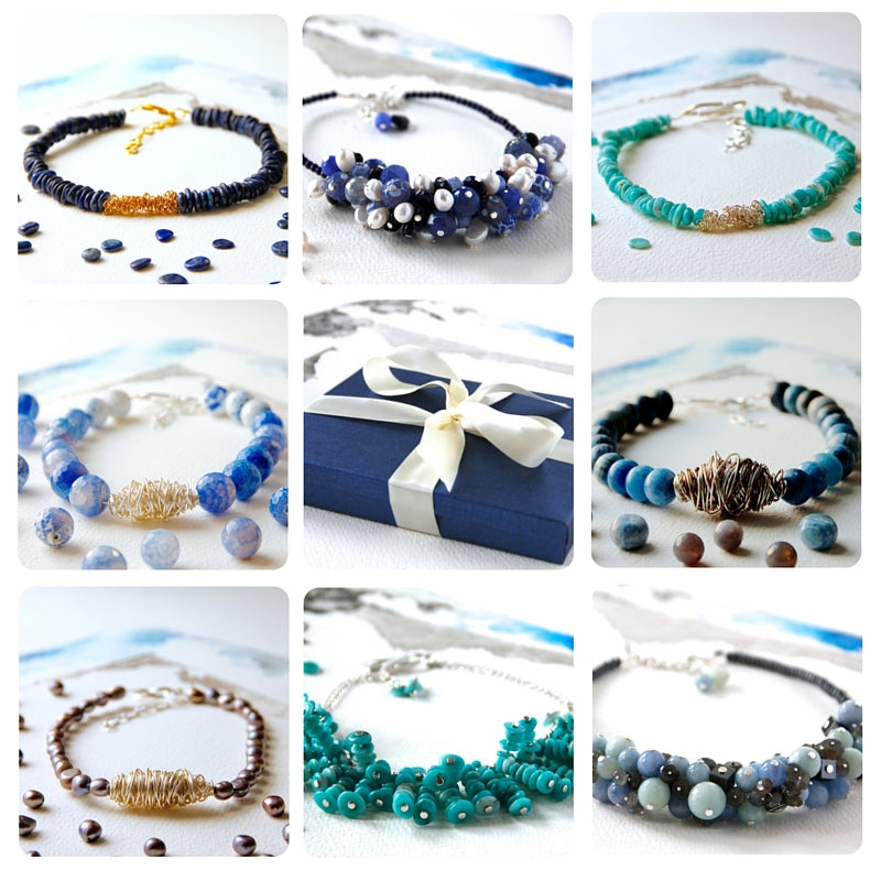 Original Artisan Jewellery / Jewelry with Genuine Gemstones Real Pearls