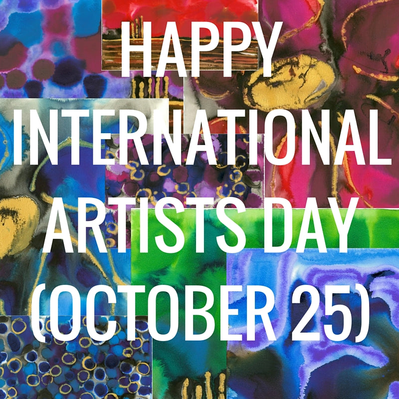 happy international artists day from London based artist Vera Blagev