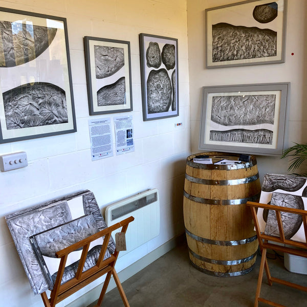 Albury Vineyard in Surrey Hills - Wine and Harvest Inspired Original Artworks by Artist Vera Blagev