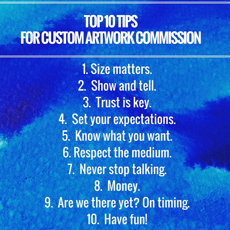 Top ten tips on successful custom artwork