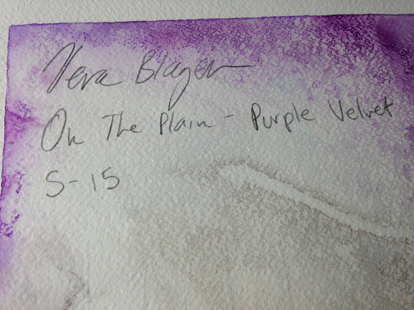 Small Format - On The Plain - Purple Velvet - Original Artwork by Vera Blagev - Vera Vera On The Wall  - 8