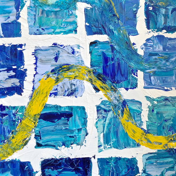 En Route - Journeys Series - Original Abstract Acrylic on Canvas Painting
