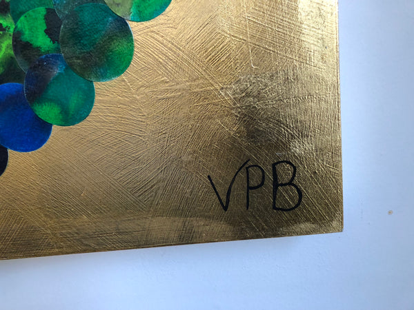Borealis Wonder Reflections Abstract Mixed Media Gold Lust Painting