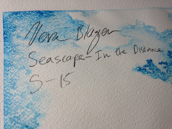 Small Format - Seascape - In The Distance - Original Artwork by Vera Blagev - Vera Vera On The Wall  - 8