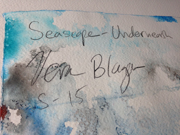 Small Format - Seascape - Underneath - Original Artwork by Vera Blagev - Vera Vera On The Wall  - 8