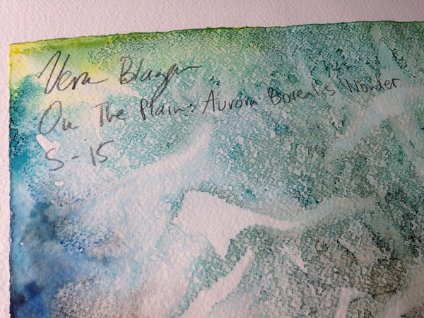 Small Format - On The Plain - Aurora Borealis Wonder - Original Artwork by Vera Blagev - Vera Vera On The Wall  - 8