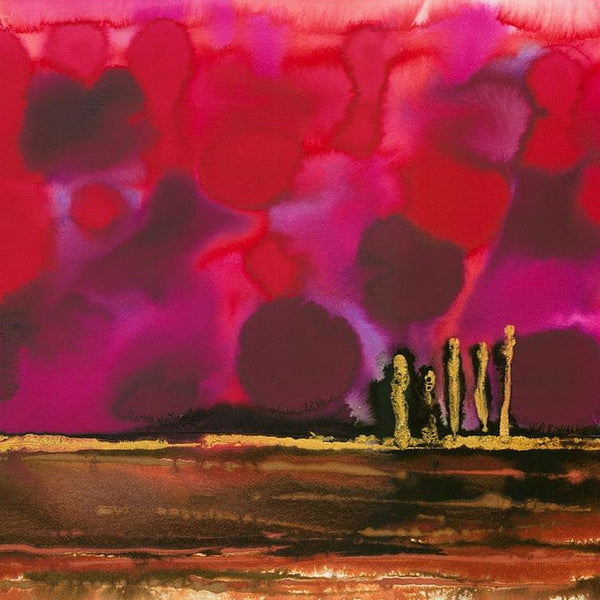 Magenta Dawn Abstract Painting