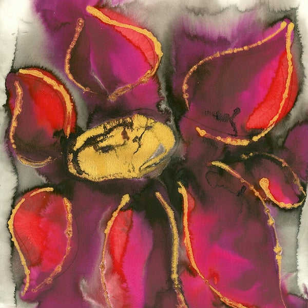 Simply Fuchsia Abstract Flower Painting