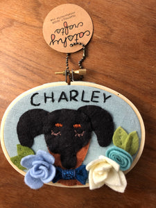 Custom Dog Hoop Art for Charley