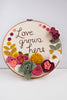 Love Grows Here 10 inch Embroidery Hoop Art