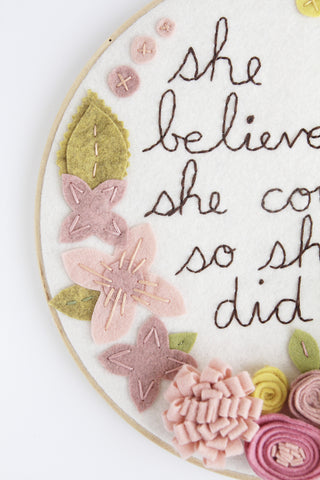 NEW! She Believed She Could So She Did Floral Wall Art