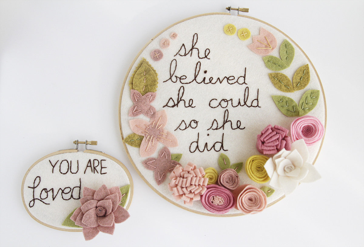 You Are Loved Embroidery Hoop Art